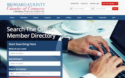 Screenshot of Home Page browardbiz.com - Broward County Chamber Of Commerce Directory - Find Broward County Chamber Of Commerces - Broward County Chamber of Commerce - captured Oct. 6, 2018