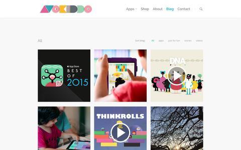 Screenshot of Blog avokiddo.com - our blog |  Avokiddo | Fun educational apps for kids - captured Dec. 27, 2015
