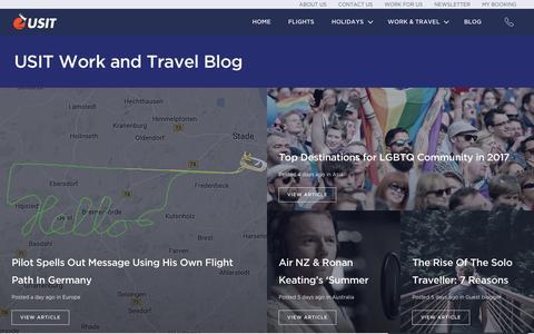 Screenshot of Blog usit.ie - USIT Work and Travel Blog - USIT Ireland - captured Dec. 7, 2016