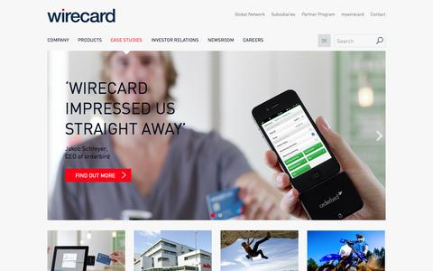 Screenshot of Case Studies Page wirecard.com - WIRECARD: Business Cases & Clients' Success Stories - captured Sept. 18, 2014