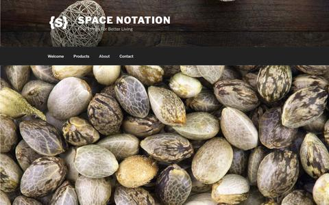 Screenshot of About Page spacenotation.com - About – SPACE NOTATION - captured July 6, 2019