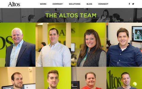 Screenshot of Team Page altosmarketing.com - Meet Our Marketing Professionals - Altos - captured Oct. 4, 2014