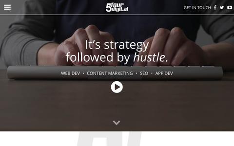 Screenshot of Home Page 5fourdigital.com - Digital Marketing Consulting Miami | 5Four Digital - captured Nov. 28, 2016