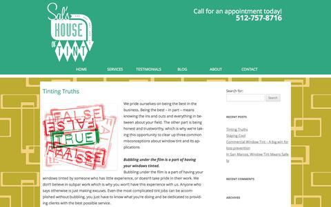 Screenshot of Blog salshouseoftint.com - Sal's House of Tint | San Marcos, TX - captured Sept. 30, 2014