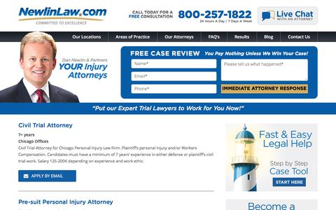 Career Opportunities - Attorney Dan Newlin - Recovered Millions!