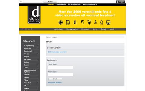 Screenshot of Login Page disnet.nl - Account instellingen - DisNet BV - captured Nov. 24, 2016