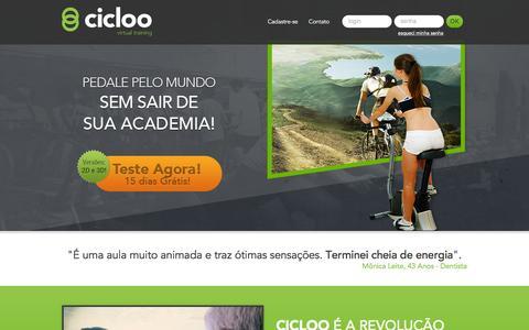 Screenshot of Home Page cicloo.com - Cicloo - captured Feb. 2, 2016