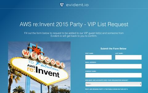 Screenshot of Landing Page evident.io - | Evident - captured Dec. 5, 2016