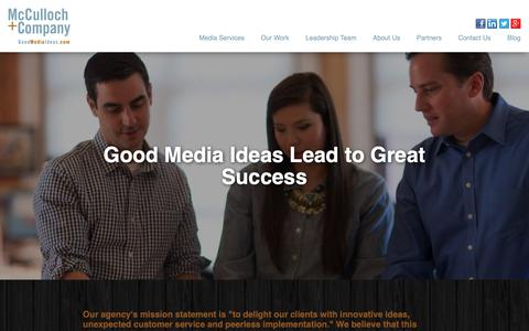 Screenshot of Case Studies Page goodmediaideas.com - Our Work - captured Oct. 17, 2018