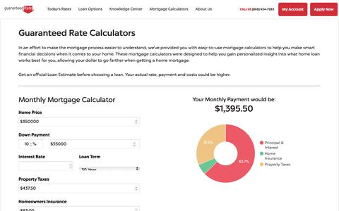 Mortgage Calculators - Monthly Mortgage