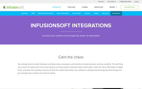 Sales & Marketing Software Integrations | Infusionsoft