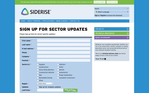 Screenshot of Signup Page siderise.com - Sign up | Siderise - captured Dec. 6, 2016
