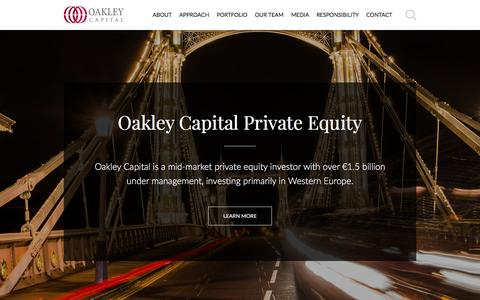 Screenshot of Home Page oakleycapital.com - Oakley Capital Private Equity - captured Dec. 17, 2016