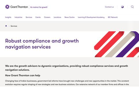 Screenshot of Services Page grantthornton.in - Services | Grant Thornton India - captured July 18, 2019