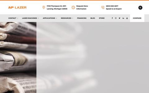 Screenshot of Press Page aplazer.com - Press Releases   AP Lazer - captured Oct. 2, 2018