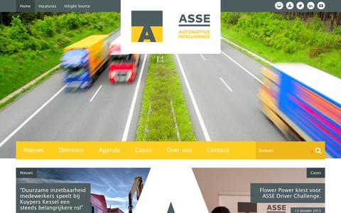 Screenshot of Home Page asse.nl - ASSE BV - captured Feb. 5, 2016