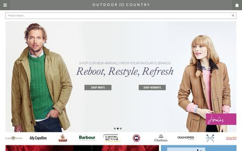 Screenshot of Home Page outdoorandcountry.co.uk - Barbour, Hunter Boots, Barbour Jackets, Aigle | Outdoor and Country - captured Jan. 26, 2015