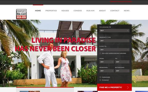 Screenshot of Home Page property-realestate.org - Hua Hin Property for sale | Property Real Estate Hua Hin Thailand - captured June 13, 2019