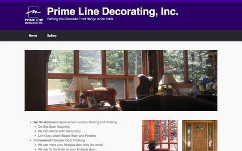 Screenshot of Home Page primelinedecorating.com - Prime Line Decorating, Inc. | Serving the Colorado Front Range since 1983 - captured July 24, 2015