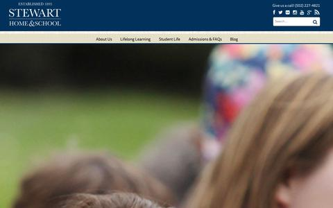 Screenshot of About Page stewarthome.com - About Us - Stewart Home & School - captured Oct. 7, 2014