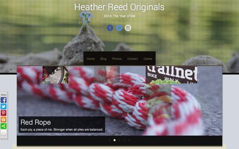 Screenshot of Blog heatherreedoriginals.com - Blog   Heather Reed Originals   2014: The Year of Me - captured Sept. 29, 2014