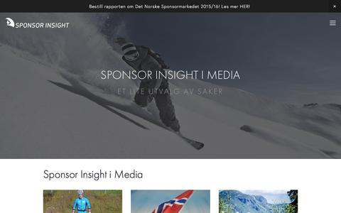 Screenshot of Press Page sponsorinsight.no - Sponsor Insight — I Media - captured Feb. 17, 2016
