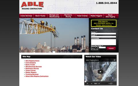 Screenshot of Site Map Page ablerigging.com - Able Rigging | Site Map - captured Sept. 30, 2014