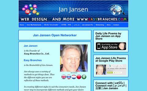 Screenshot of Home Page janjansen.asia - Jan Jansen | Social Media Network Builder - captured Jan. 30, 2015