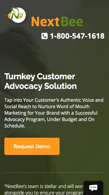 #1 In Customer Advocacy Solution - Custom Mobile App, Web Portal for Customer & Employee Advocacy