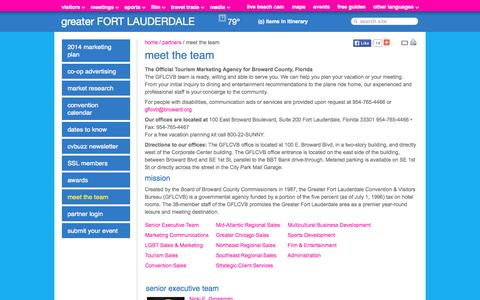 Screenshot of Contact Page sunny.org - Fort Lauderdale Hotels, Beaches, Restaurants, Events | Florida Vacation Information - captured Sept. 19, 2014