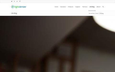 Screenshot of Blog lightarrow.com - LightArrow Inc |   Life Blog - captured Sept. 16, 2014