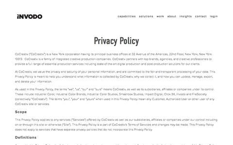 Privacy Policy — Premium Product Video for Retailers & Manufacturers | INVODO