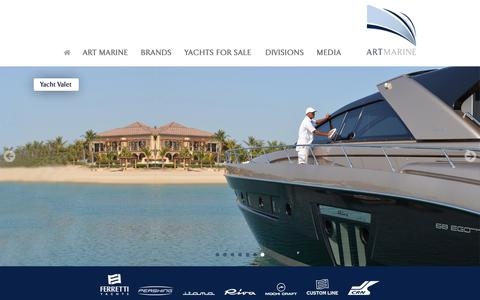 Screenshot of Home Page artmarine.ae - Art Marine - The Region's Leading Luxury Motor Yachts Dealership - captured Oct. 2, 2018