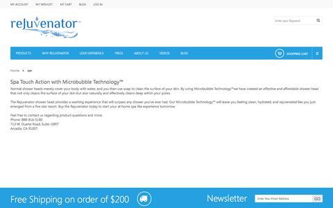 Screenshot of Support Page rejuvenatorproducts.com - csr - captured Oct. 31, 2014