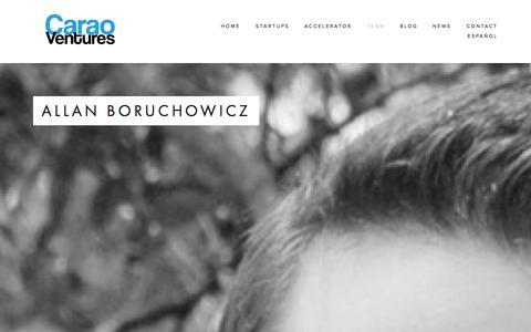 Screenshot of Team Page caraov.com - Team — Carao Ventures - captured Oct. 22, 2014