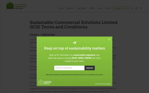 Screenshot of Terms Page sustainablecommercialsolutions.co.uk - Sustainable Commercial Solutions Limited (SCS) Terms and Conditions - Sustainable Commercial Solutions - captured Jan. 13, 2016