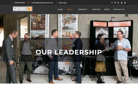 Screenshot of Team Page level3construction.com - Meet the Leadership Team at Level 3 Construction, Inc. - captured Sept. 28, 2018