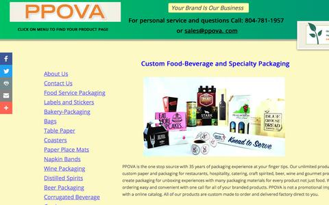 Screenshot of About Page ppova.com - Custom Packaging For Food-Beverage & Speciality Products - captured Sept. 25, 2018