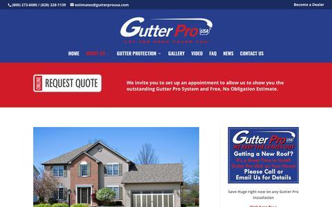 Screenshot of About Page gutterprousa.com - About Us - Gutter Pro USA - captured Nov. 4, 2018