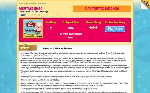 Screenshot of ohmybingo.com - Farmyard Bingo | £5 Free with No Deposit | 300% First Bonus - captured March 19, 2016