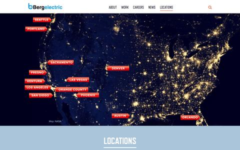 Screenshot of Locations Page bergelectric.com - Locations - Bergelectric - captured Jan. 1, 2016