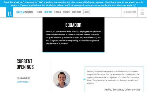 Ecuador | Nielsen Careers