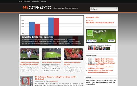 Screenshot of Home Page catenaccio.nl - CATENACCIO | Voetbal-analyses, statistieken, interviews en artikelen - captured Jan. 22, 2016