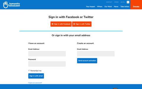 Screenshot of Login Page nationbuilder.com - Sign in - captured Oct. 21, 2018