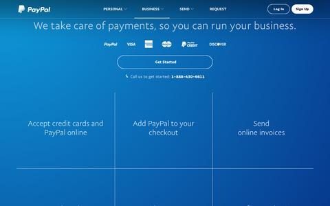 Merchant Services & Account Payment Solutions for Your Business – PayPal