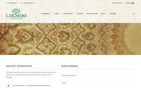 Screenshot of Contact Page lakshmi.it - Contact Us – Lakshmi - captured July 3, 2018