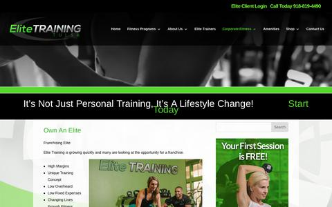 Elite Training Tulsa | Own An Elite | Elite Training