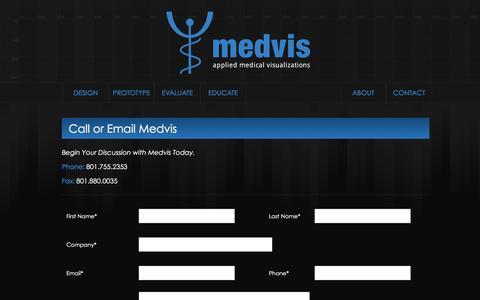 Screenshot of Contact Page medvis.com - Medvis - captured Feb. 6, 2016