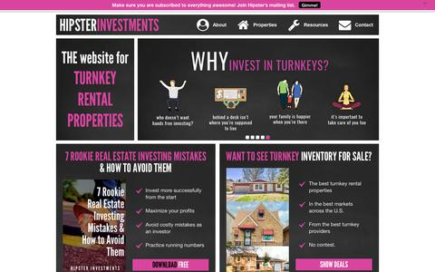 Screenshot of Home Page hipsterinvestments.com - Hipster Investments | Ali Boone - captured Sept. 23, 2019