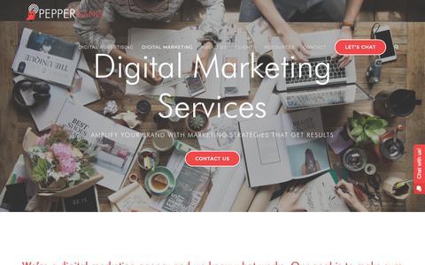 Screenshot of Services Page peppergang.com - Digital Marketing Agency Services | SEM, SEO, SM & More - captured Sept. 28, 2018